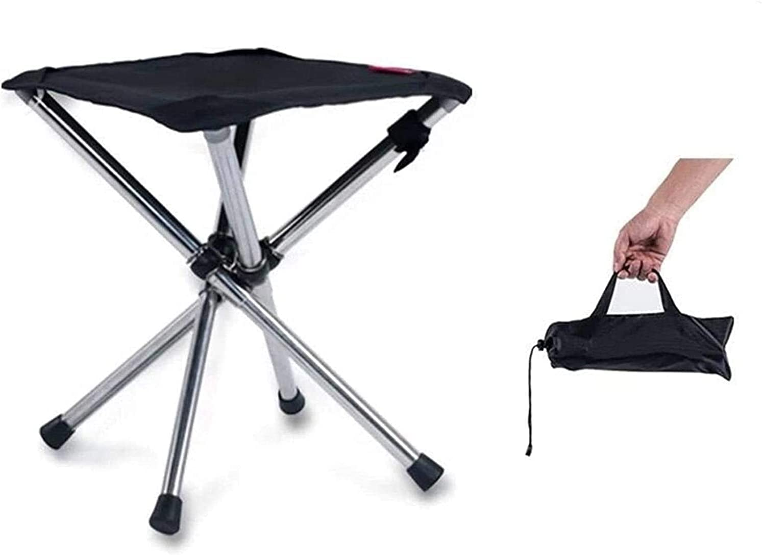 YGCBL Retractable Folding BBQ Stool Camping Fishing Chair Outdoo
