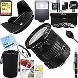 Sigma (583306 17-50mm f/2.8 EX DC OS HSM FLD Zoom Lens for Nikon Digital DSLR Camera + 64GB Ultimate Filter & Flash Photography Bundle