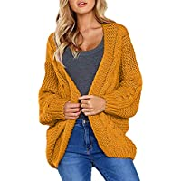Cherfly Women's Loose Open Front Cardigan (various colors/sizes)