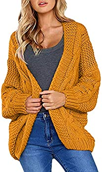 Cherfly Women's Loose Open Front Cardigan