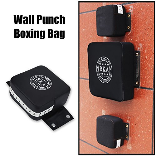 Alomejor Boxing Wall Punch Pad, Square Fitness Focus Kick Target Strike Soft Pad for Boxing MuayThai Free Combat Training 20 x 20 x 10cm