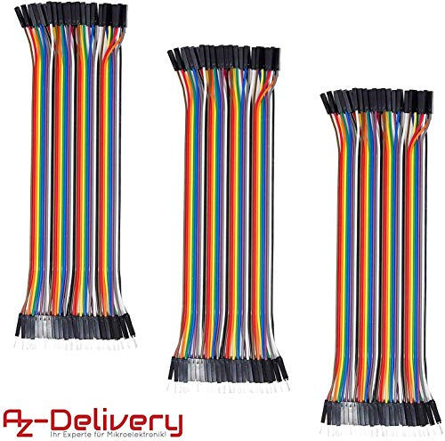 AZDelivery 3 x Jumper Wire Cable Cavo F2M female to male per Arduino