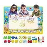 LEADSTAR Doodle Tappeto,Tappeto da Disegno per Bambini, Tappeto Bambini Misura Grande 100 *70cm, Giocattoli educativi e Regali per Bambina di 3 4 5 6 7 8 Anni