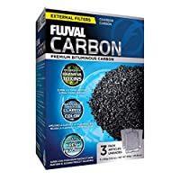 High quality low-ash Fluval carbon is highly porous, providing large amounts of surface area for adsorption of impurities It effectively removes heavy metals, odours, discolorations, organic contaminants and pollutants to leave your aquarium water cr...