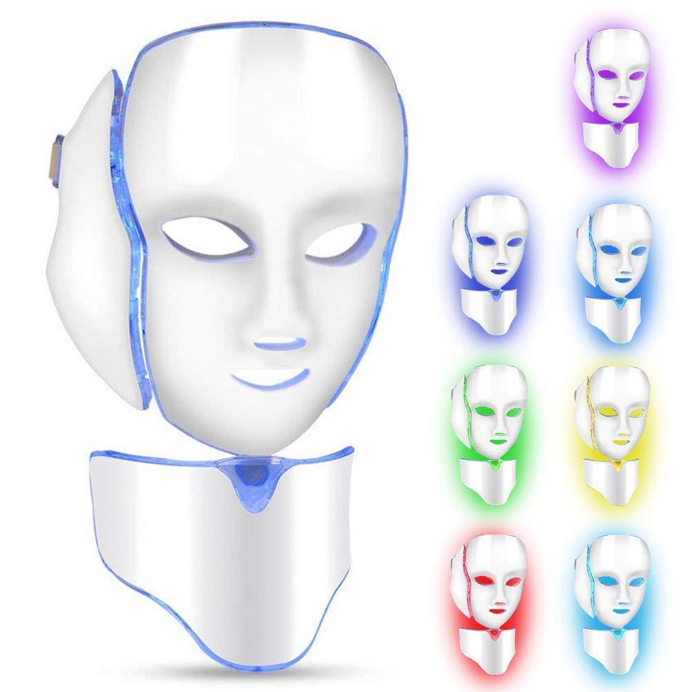 Filfeel Máquina de Tratamiento de acné, Anti Arrugas máquina de Belleza, Rejuvenecimiento de la Piel, 7 Luces de Color Facial Salon Cuidado de la Piel, antienvejecimiento, Aprobado por la FDA(#2): Amazon.es: Hogar