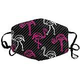 Schwarz-rosa gestreifter Flamingo-Vogel-Muster-bequemer Umschlag, universeller Umschlag