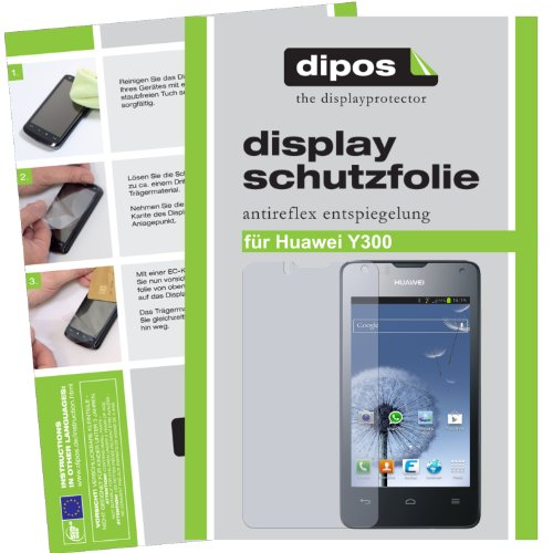 dipos I 2X Schutzfolie matt kompatibel mit Huawei Ascend Y300 Folie Bildschirmschutzfolie