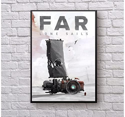 Far-Lone Sails Videogioco su tela Poster Decorazione per pittura murale di casa (senza cornice)-50x75 cm senza cornice