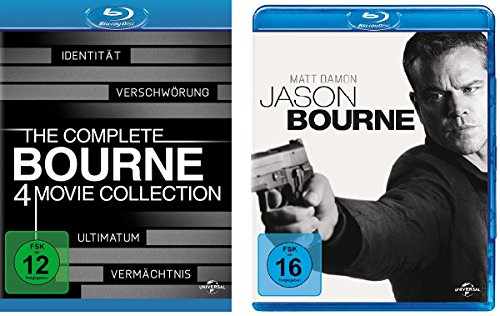 Bourne 1-5 (Bourne Collection Box 1-4 + Jason Bourne) im Set - Deutsche Originalware [5 Blu-rays]