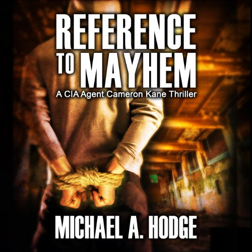 Reference to Mayhem audiobook cover art