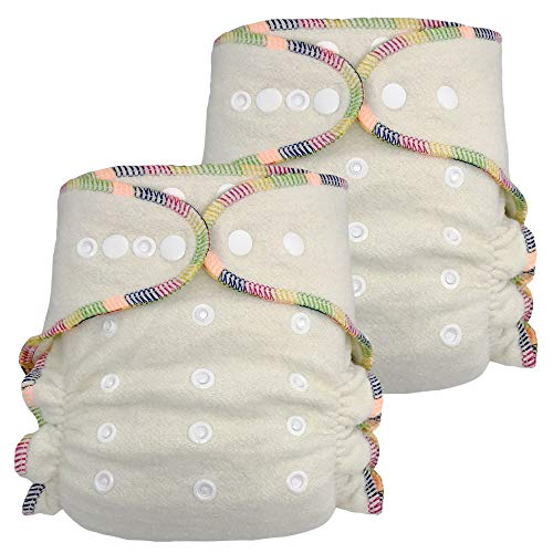 Product Image of the Fitted Cloth Diaper: Overnight Diaper with 2 Cotton Hemp Inserts, One Size with...