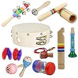 FORYOURS - Juego de Instrumentos Musicales (10 Unidades, Madera)