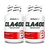 BIOTECH USA CLA 400 | Quemagrasas | Control de peso | Pastillas adelgazantes | Reducción rápida de la celulitis | Suplemento alimenticio (160 cápsulas = 2 botellas)