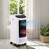 BRAST Climatiseur mobile reversible chauffage jusqu'à 25m² 5en1 chauffage 1800 W, 3 étapes de ventilation, refroidissement 65W, déshumidification et purification de l'air, télécommande