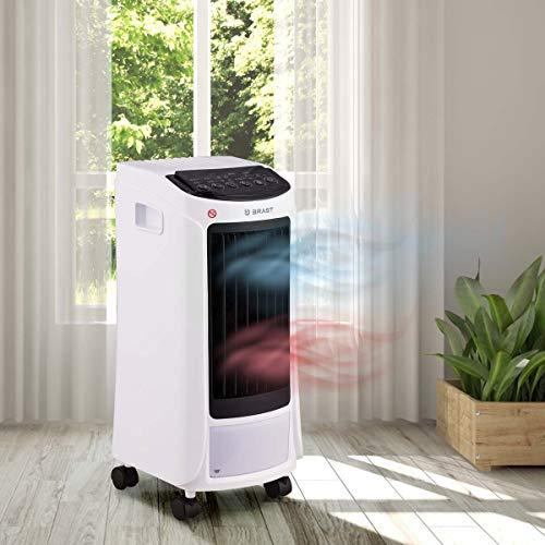 Mobiles Klimagerät | Räume bis 25 qm | 5in1 | Kühlen Heizen Ventilator Ionisator Reinigung | Klimaanlage Air Cooler Luftkühler BRAST