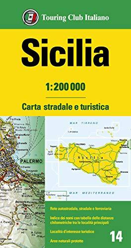 Sicilia 1:200.000. Carta stradale e turistica