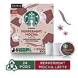 Starbucks Peppermint Mocha Caffe Latte Flavored Medium Roast Coffee Single-Cup Coffee for Keurig...