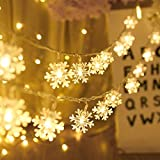 Snowflack Fairy Lights, 20ft 40 LED BatteryPowered...