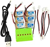 Fytoo 6PCS Batterie Lipo Ricaricabili (3,7V 150mAh Lipo) + Caricatore 6in1 per...