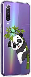 Suhctup Funda Compatible para Xiaomi Mi 5X/A1,Carcasa Transparente Dibujos Animal Suave Silicona TPU Gel Bumper Ultra Pulgada Antigolpes Crystal Clear Protector Piel Case Cover,Panda 3