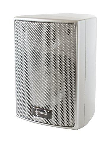 Dynavox AS-301 Satelliten-Lautsprecher, Paar, für Heimkino oder Büro, kompakte Surround-Box, Wandmontage, Silber