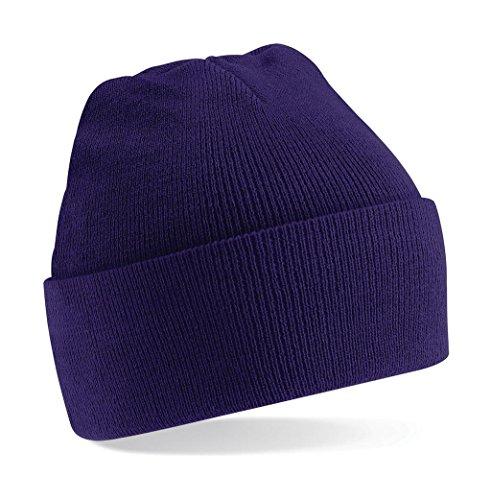 Beechfield B045.Pur Cuffed Bonnet Mixte, Noir, Taille Unique
