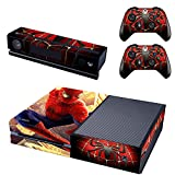REYTID Piel de Consola Pegatina + 2 x calcomanías del Controlador & kinect Wrap Compatible con Microsoft Xbox One - Conjunto Completo - Spiderman