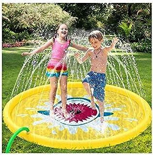 170Cm Inflatable Kids Water Spray Pad Round Water Splash Play Pool Game Sprayer Mat Playground Outdoor Fun PVC Pools