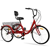 Ey Adult Tricycle, 3 Wheel Bike Adult, Three Wheel Cruiser Bike 24 26 inch...