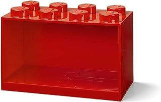 Room Copenhagen Estantería de Bloques Lego 8 Elementos, Rojo, One Size