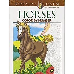 horses color by number