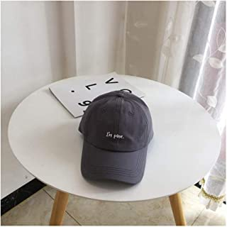 Hats Female Versatile Student Baseball Cap Summer Casual Style Hat Male Cap Fashion (Color : Grey, Size : F/56-59CM)