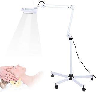 Lámpara Lupa LED Estética de Aumento 5X luz Blanca con Cubierta Antipolvo para Belleza de Salón Tatuaje Masaje Manicura Pedicura Maquillaje Trabajo Estudio Oficina Lupa con Luz Lámpara de Pie