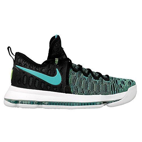 Nike Herren Zoom KD 9 Basketballschuhe, Verde (Clear Jade/Black), 45 EU