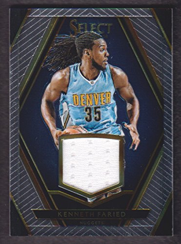 2015-16 Select Swatches #30 Kenneth Faried Jersey 39/99 Denver Nuggets