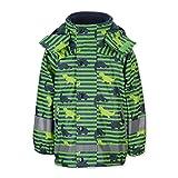 Sterntaler Jungen Dino mit Innenjacke Regenjacke, grün, 104