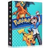 Funmo Pokemon Cartas Álbum, Álbum de Pokémon Álbum Titular de Tarjetas Pokémon, Álbum de Entrenador de Cartas Pokémon Protección, 30 páginas 240 Tarjetas Dobles (Blue Xiaozhi)