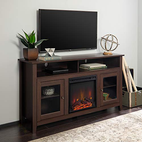 Home Accent Furnishings Lucas 58 Inch Highboy Fireplace Television Stand in...