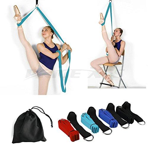 Leg Stretcher Door Flexibility amp Stretching Leg Strap  Great for Ballet Cheer Dance Gymnastics or ANY Sport Leg Stretcher Door Flexibility Trainer Premium stretching equipment light blue