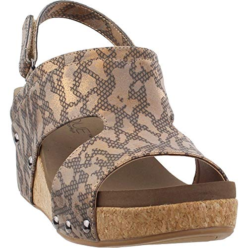 Corkys Womens Mario Casual Wedges Shoes, Gold, 9