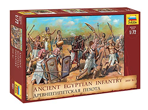 Zvezda 530008051 Ancient Egyptian Infantry 2000 B.C - Maqueta de maqueta de plástico para Montar, réplica Detallada