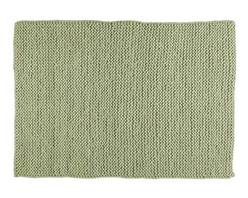 Sukhi Bishnu: Tapis de Laine Chunky, Couleur Vert Tendre, Qualite Amazon (80cm x 100cm / 2' 7.5'' x 3' 3.4'')