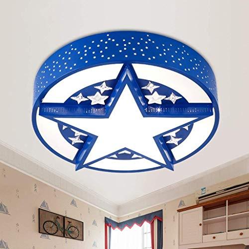 Kinderkamer LED Plafondlamp, Creatieve Cartoon Leuke Sterren Slaapkamer Kamerlampen (Kleur : Zwart)