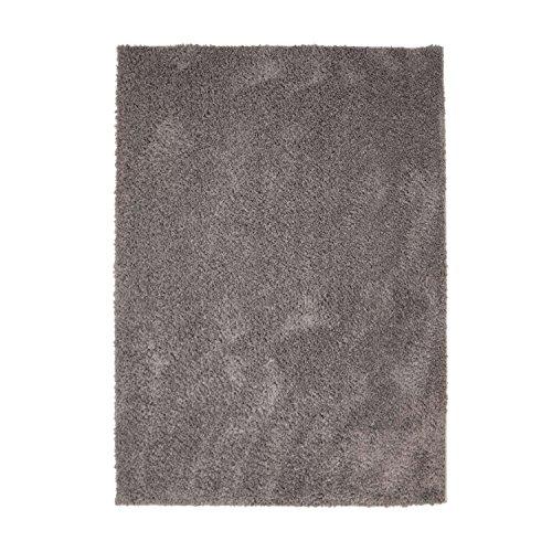 MyShop24h Teppich Wohnzimmer Taupe Hochflor Shaggy 120x170cm Oeko-Tex Standard 100{dc1fcfc2c2c5fe9d5fbf6370823b959821168cffe52cb90f5c40bb5ec310557a} Micro-Polyester Einfarbig Allergiker geeignet