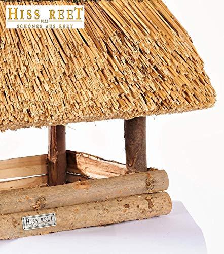 Vogelhaus mit Reetdach Futterhaus Futterstation – eckig – traditionell eingedeckt - 7