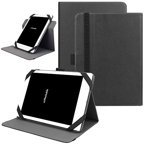 KuRoKo Universal 360 Rotating Case for 9-10 inch Tablet, Stand Folio Universal Tablet Case Protective Cover for 9' 10.1' Tablet(Samsung Asus Acer Google Lenovo iPad etc) (Black)