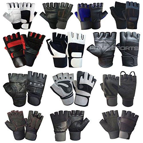 PSS Vingerloze gewichtheffen handschoenen voor Gym Workout - polssteun met gewatteerde Palm bescherming - goed voor fitness, bodybuilding, powerlifting, krachttraining, gewichtheffen, Bus rijden. Wiel Stoel gebruik Fietsen & Oefening