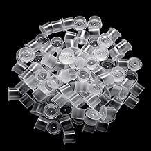 Tattoo Ink Caps Large - CINRA 1000Pcs Hot Sale White Plastic Disposable Microblading Makeup Tattoo Ink Cups With Base, Pigment Ink Caps Sizes for Tattoo Ink,Tattoo Kits,Tattoo Supplies (17mm-1000pcs)