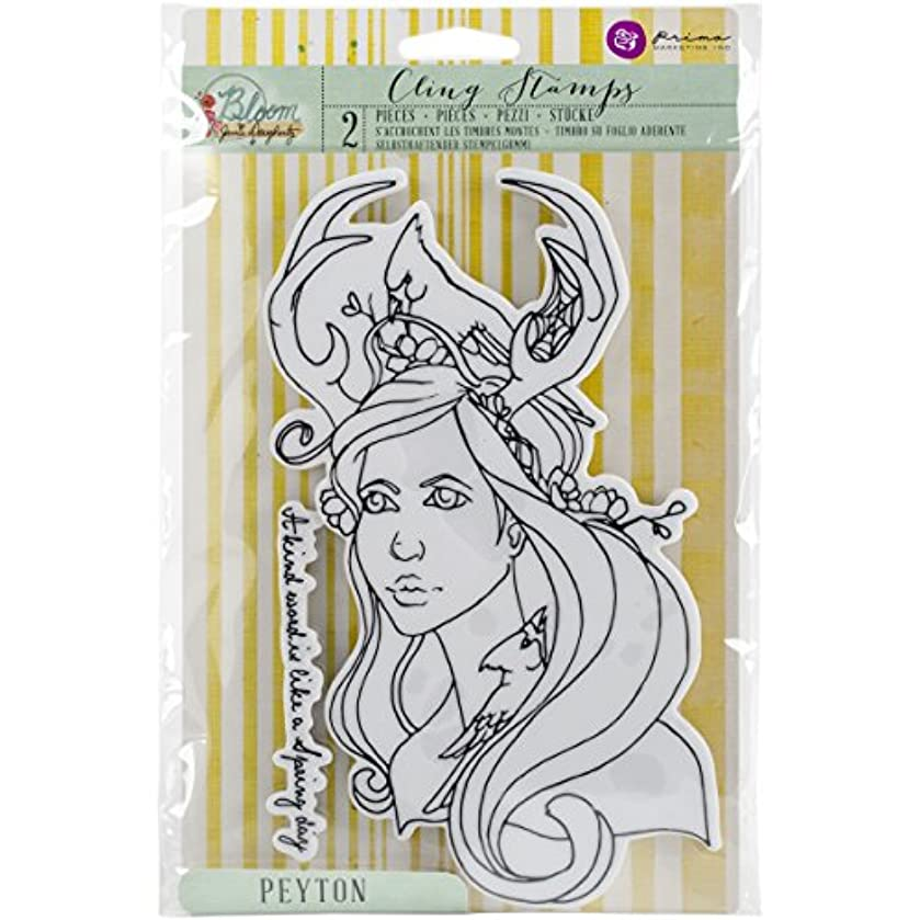 Bloom Cling Rubber Stamps 8x6-Peyton