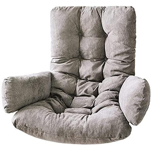 Pteng Outdoor Eierstuhl Hängende Korb Stuhlkissen, verdicken Schaukelkissen, Korb Hängende Stuhlkissen Ei Wicker Sitzkissen Weiche Baumwolle Gefüllte Patio Outdoor Matte, ohne Stuhl